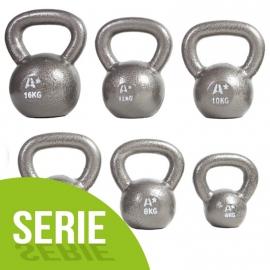 Série 9 kettlebells Cast Iron