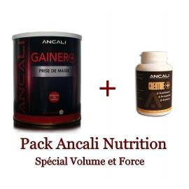 Pack Gainer 1 kg + Créatine 90 gélules | Ancali