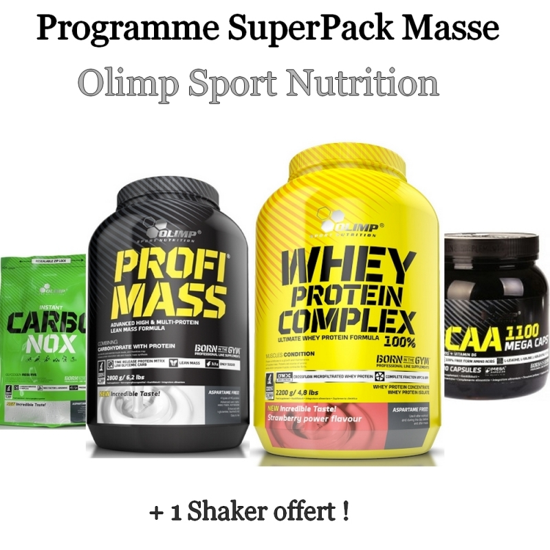 programme superpack masse d 39 olimp sport nutrition pas cher nutriwellness. Black Bedroom Furniture Sets. Home Design Ideas