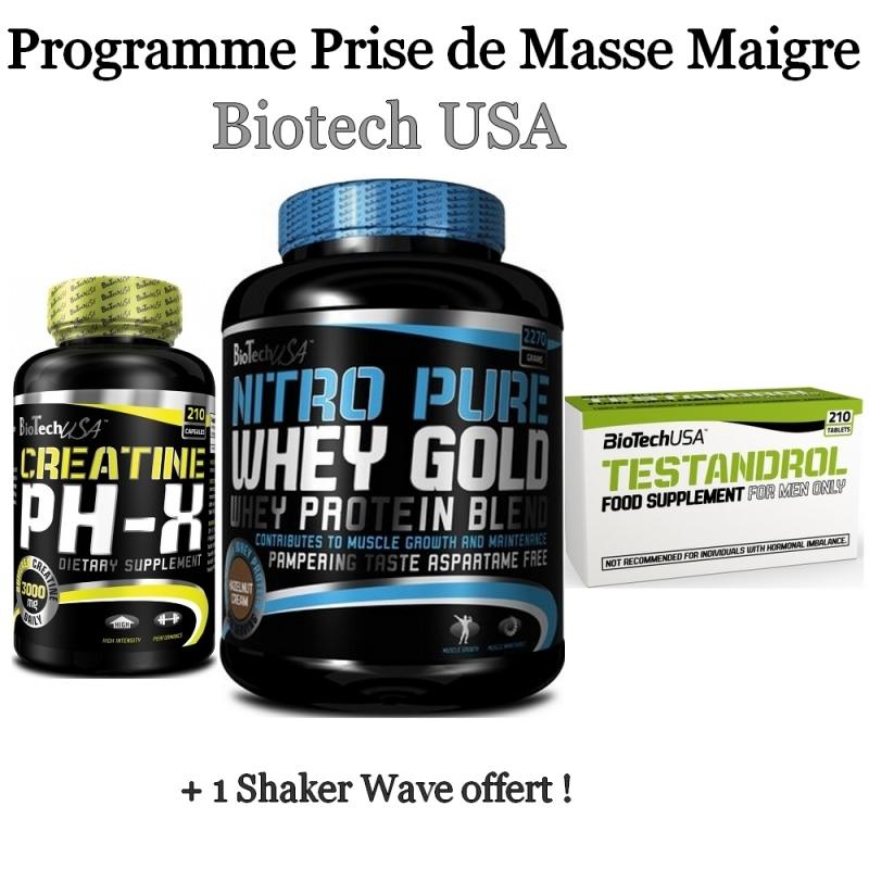 Programme prise de masse maigre de biotech usa pas cher nutriwellness - Programme alimentaire prise de masse musculaire ...