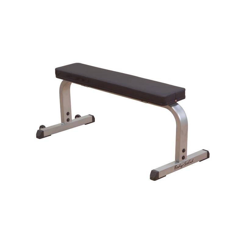 Banc plat droit simple compact flat bench gfb350 de body solid pas cher nutriwellness - Banc plat de musculation ...