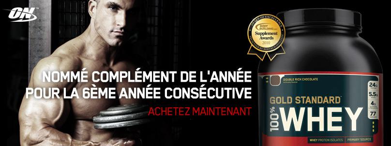 100 % Whey Gold Standard pas cher sur nutriwellness.fr