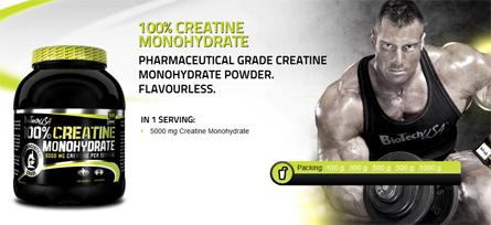 100% Créatine Monohydrate   Biotech USA