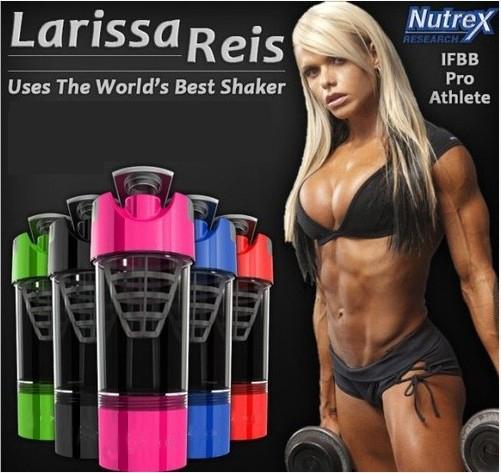 Larissa Reis utilise les Blender Bottle lors de tous ses entraînements