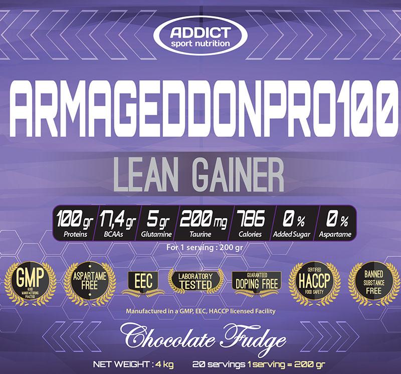 Informations Armageddon Pro 100 d'Addict Sport Nutrition