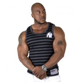 Stripe Stretch Tank Top | Gorilla Wear
