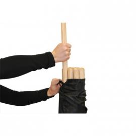 Sac pour lot de 20 batons bois 140cm | Sveltus