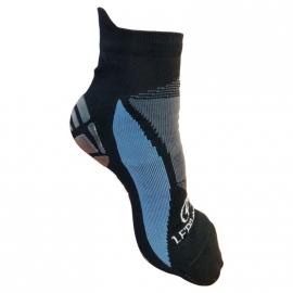 Chaussettes LF'Pilates avec semelle anti-dérapante - noir & bleu