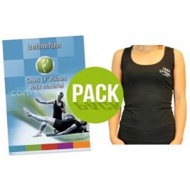 Pack : DVD cours petit matériel + débardeur Pilates taille s