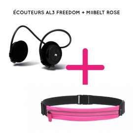 Ecouteurs Bluetooth AL3 Freedom Noir + MIIBELT - MIIEGO