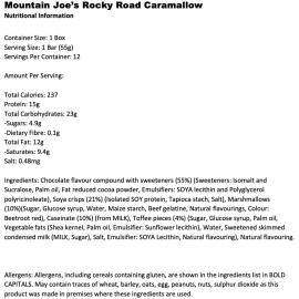 Rocky Road Bar - Mountain Joe's