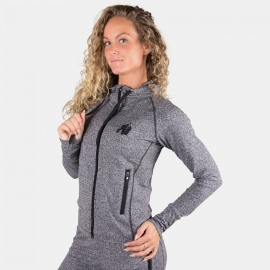 Shawnee Zipped Hoodie - Mixed Gray - Gorilla Wear