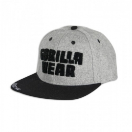 Soft Text Flat Brim (Gray) - Gorilla Wear