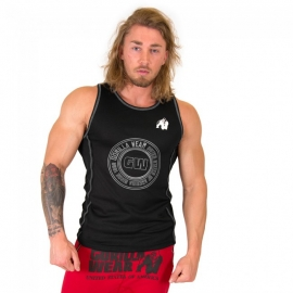 Kenwood Tank Top - Black/Silver - Gorilla Wear