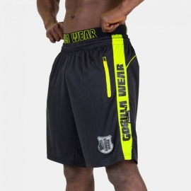 Shelby Shorts (Black/Neon Lime) - Gorilla Wear