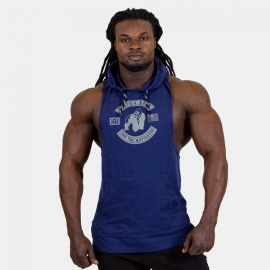 Lawrence Hooded Tank Top - Navy Blue - Gorilla Wear