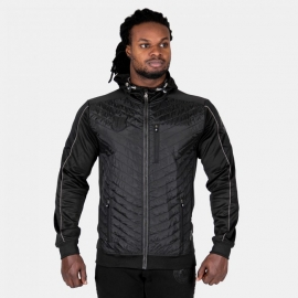Jefferson Front Padded Jacket - Black/Gray - Gorilla Wear