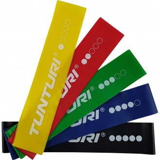 Tunturi Mini Resistance Band - Set 5 pcs