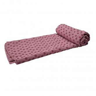 Serviette de yoga antidérapante Tunturi avec sac de transport - Rose