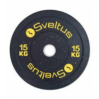 Disque olympique bumper 15 kg x1 -...