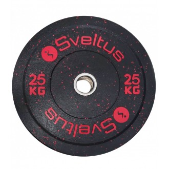 Disque olympique bumper 25 kg x1 -...