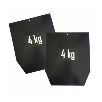 Plaque acier pour gilet pro 4 kg x2 -...