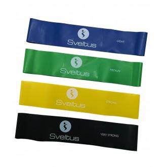 Set de 4 bandes latex aérobic - Sveltus