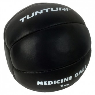 Medicine Ball Leather, Black, 1kg -...