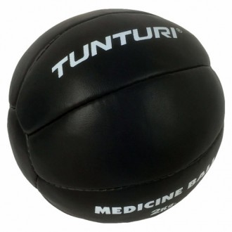 Medicine Ball Leather, Black, 2kg -...