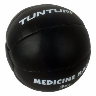 Medicine Ball Leather, Black, 3kg -...