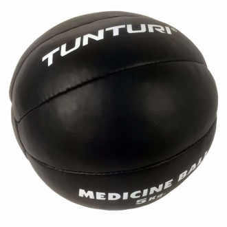 Medicine Ball Leather, Black, 5kg -...