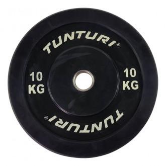 Bumper Plate 10kg Black - Tunturi