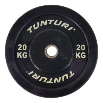 Bumper Plate 20kg Black - Tunturi