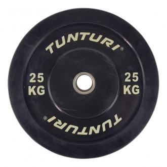 Bumper Plate 25kg Black - Tunturi