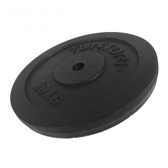 Plate Black 20.0kg, Single - Tunturi