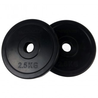 Rubber Plates 2.5kg, Pair - Tunturi