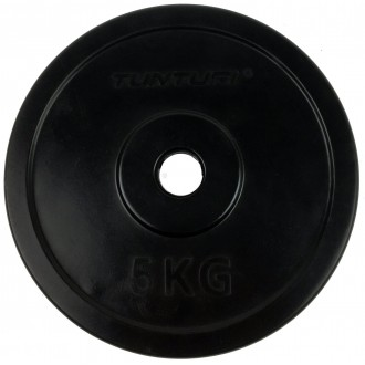 Rubber Plate 5.0kg, Single - Tunturi