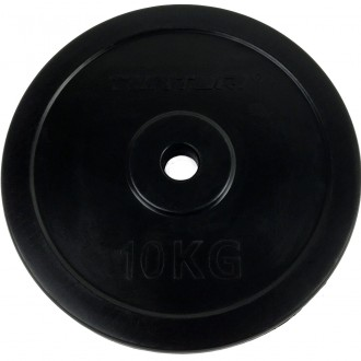 Rubber Plate 10.0kg, Single - Tunturi
