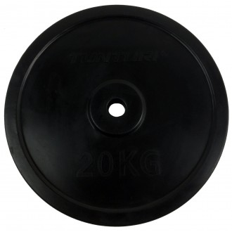 Rubber Plate 20.0kg, Single - Tunturi