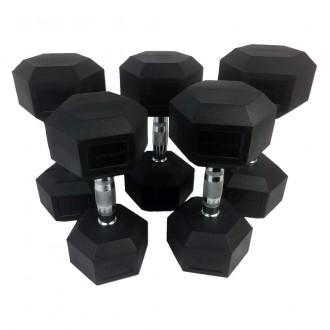 Rubber Dumbbells Set 12-20 kg (5...