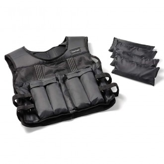 Adjustable Weighted Vest 10kg - Tunturi
