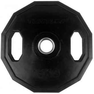 Olympic Rubber Plate 15.0kg, Single -...