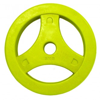Aerobic Plates Rubber 5.0kg, Single -...