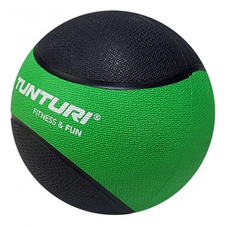 Medicine Ball 2kg, Green/Black - Tunturi