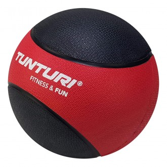 Medicine Ball 3kg, Red/Black - Tunturi