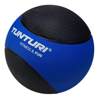 Medicine Ball 4kg, Blue/Black - Tunturi