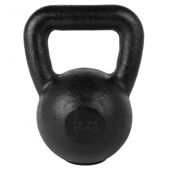 Kettlebell Black 16kg - Tunturi