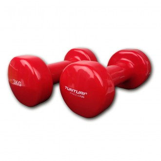 Vinyl Dumbbells 3.0kg, Red, Pair -...