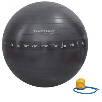 Gymball 65cm, Black, Anti Burst -...
