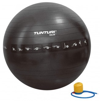 Gymball 55cm, Black, Anti Burst -...